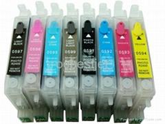 Epson R2400 T0591-T0599照片打印机填充墨盒