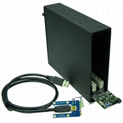 Mini PCIe转双PCI扩展坞