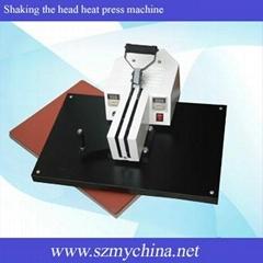Shaking the head heat press machine