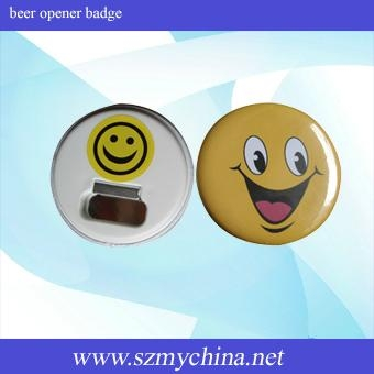 beer opener badge material