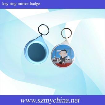 key ring mirror badge material
