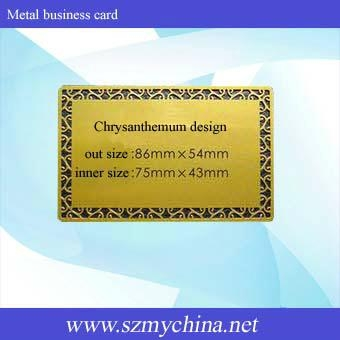 Metal business card 3