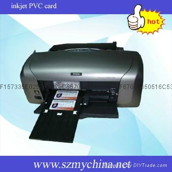 inkjet printable PVC white card 3