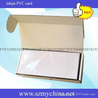 inkjet printable PVC white card 4