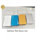 0.45mm Thick Sublimation Aluminum  Business Card 2