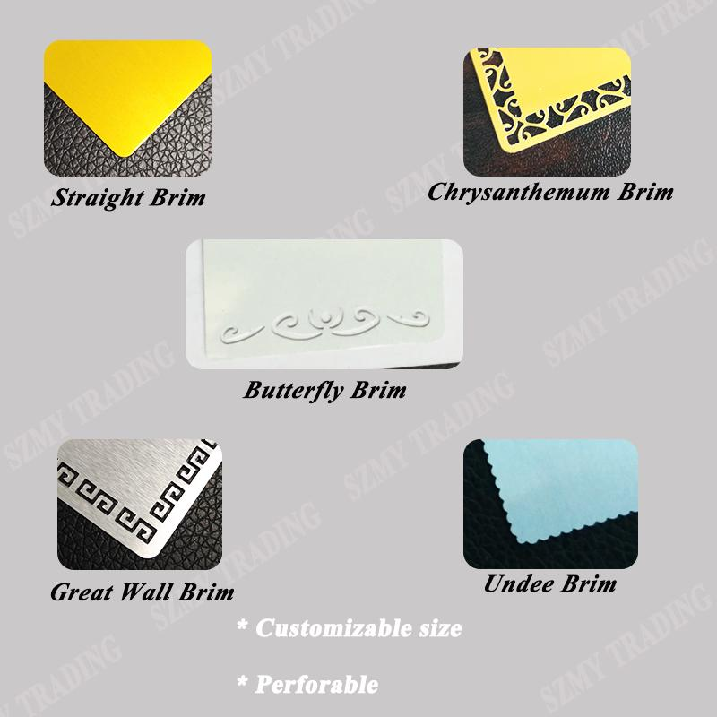 0.45mm Thick Sublimation Aluminum  Business Card 5