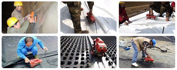 自動800W工業瀝青膜土工膜熱風無縫拼接機 4