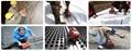 自动800W工业沥青膜土工膜热风无缝拼接机 4