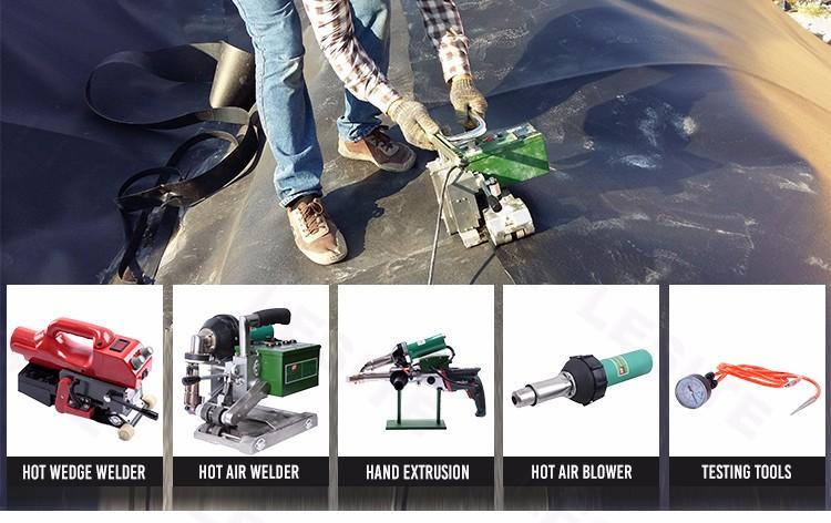 自动1800W工业沥青膜土工膜热风无缝拼接机 4