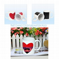 Sublimation Transfer Partial Change Color Ceramic Mug