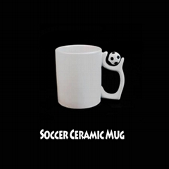 Sublimation Transfer 11OZ Ceramic White Soccer Cups
