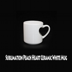 Sublimation Transfer Peach Heart Ceramic Mugs