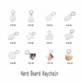 Sublimation White MDF Key Chains With