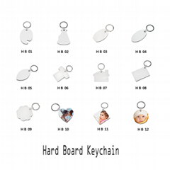Sublimation White MDF Key Chains With Coated