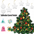 Blank Sublimation Ceramic Pendant For Christmas