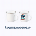 Sublimation Stainless Steel Edging Enamel Cup