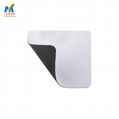 Custom Round Fabric and Ribbon Mousepads Blanks For Sublimation