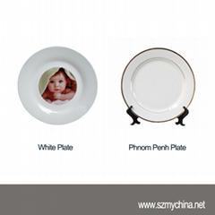 Wholesale Blanks Ceramic Photo Plate For Sublimation Transfer