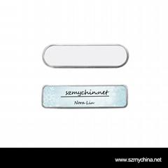 Sublimation Metal Name Badge Blanks For Transfer