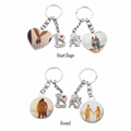 Sublimation Metal Lover Keychains Blanks