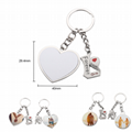 Sublimation Metal Lover Keychains Blanks Couple Key Rings