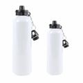 Sublimation Metal Blank Silver Aluminum Bottles 400ml 500ml 600ml