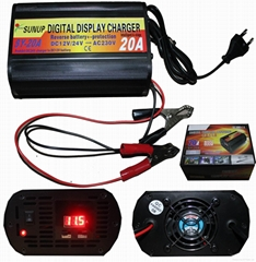 Digital Display Battery Charger 20A