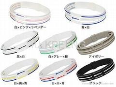 Phiten  bracelet 3 line,titanium bracelet 3 line