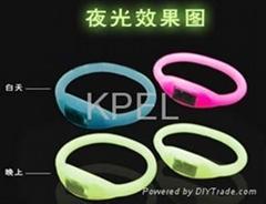ion sports watch/glowing dark anion watch