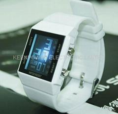 五彩炫光LED燈手錶