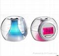 LED crystal 7 color change six natural