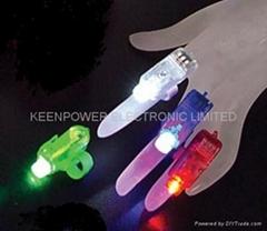 LED Laser Finger light Beams Ring Torch