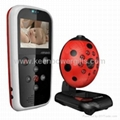 Lovely Ladybird Portable Vedio&Audio Day&Night Wireless Baby Monitor  1