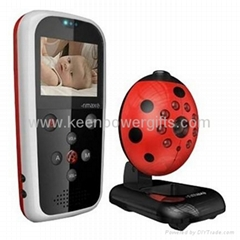 Lovely Ladybird Portable Vedio&Audio Day&Night Wireless Baby Monitor
