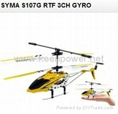 SYMA  S107G RTF 3CH Rc Helicopter With GYRO & Aluminum Fuselage