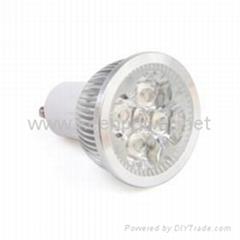 GU10 4-LED 360-Lumen 3500K Warm White LED Bulb (85~265V AC)