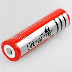 Li-ion Rechargeable Flashlight Ultrafire Battery + 18650 Li-ion Smart Charger