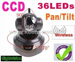 Aluminium alloy EasyN Wireless IR WiFi CCD IP Camera Alarm Monitor with 36LEDs