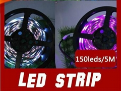 5M SMD 5050 Non-Waterproof Led Strip, 150 LEDs flexible RGB Led Strips