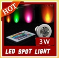 3W E27 Remote Control LED Bulb Lamp 16