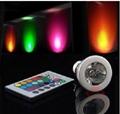 3W E27 Remote Control LED Bulb Lamp 16 Color Spot Light  3