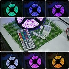 5M 5050 Waterproof RGB 300 LEDs Flexible strip Lighting +44keys Led Controller