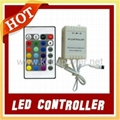 1pc 24 Keys IR Remote Controller +1pc 12V5A led power supply for Led Strip RGB 2