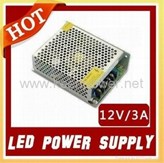 led power supply 12V/3A 36W ,led power transformer for led strip!