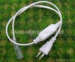 AC Power cord for 220V 5050 Led Strip, US,UK,EU Plug Led Power