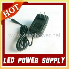 12W AC 100-240V DC 12V 1A Power Adapter for Christmas Led Lighting/Led Strip