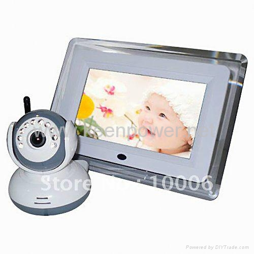 2.4GHz 7 inch Interference Free Digital LCD Baby Monitor Kit  1