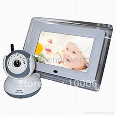 2.4GHz 7 inch Interference Free Digital LCD Baby Monitor Kit