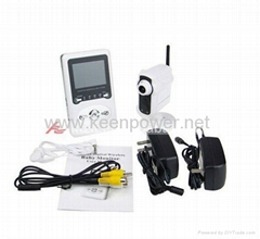 Digital 2.4GHz Wiress Camera Kit/Baby Monitor With 2.4'' Full Color LCD