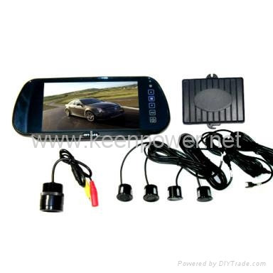 Car Reversing Set - 7 inch Rearview Mirror TFT LCD Monitor - Rearview Camera - P 1